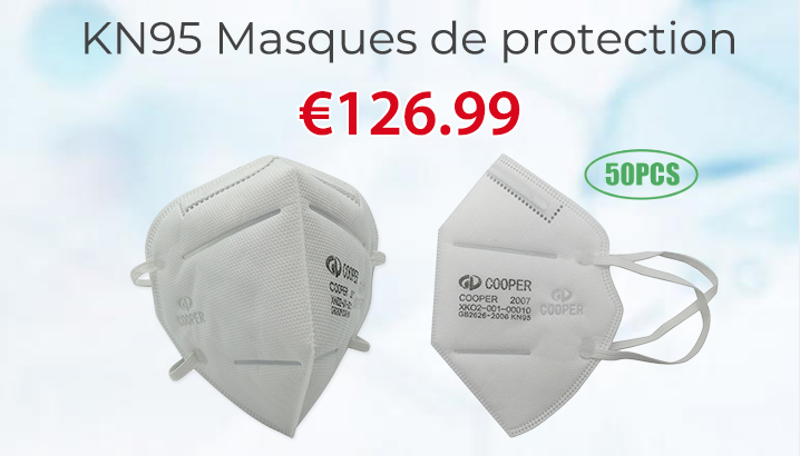 COOPER KN95 50PCS Masques de protection